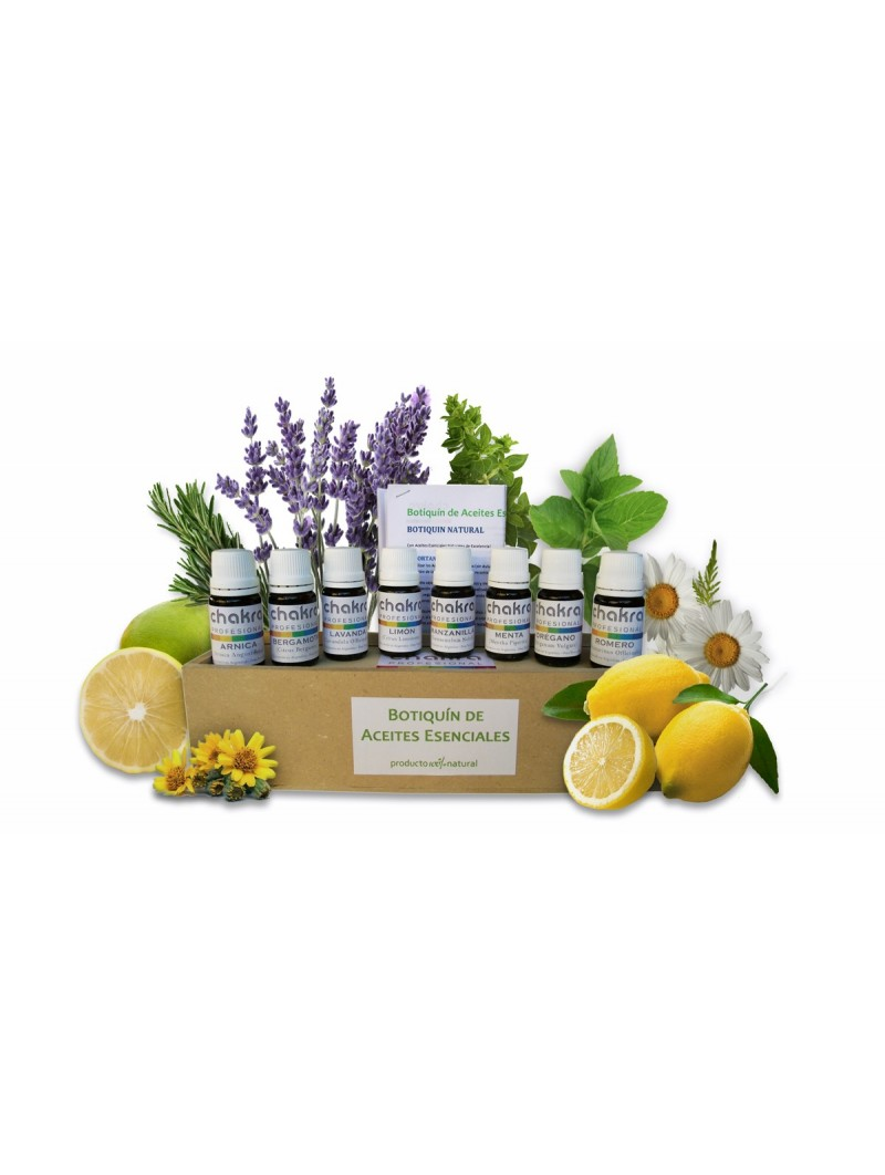 Botiquín Natural con 8 Aceites Esenciales y 36 recetas!